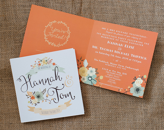 Wedding Invitations | Swash and Fold