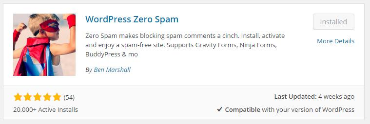 wp-zero-spam