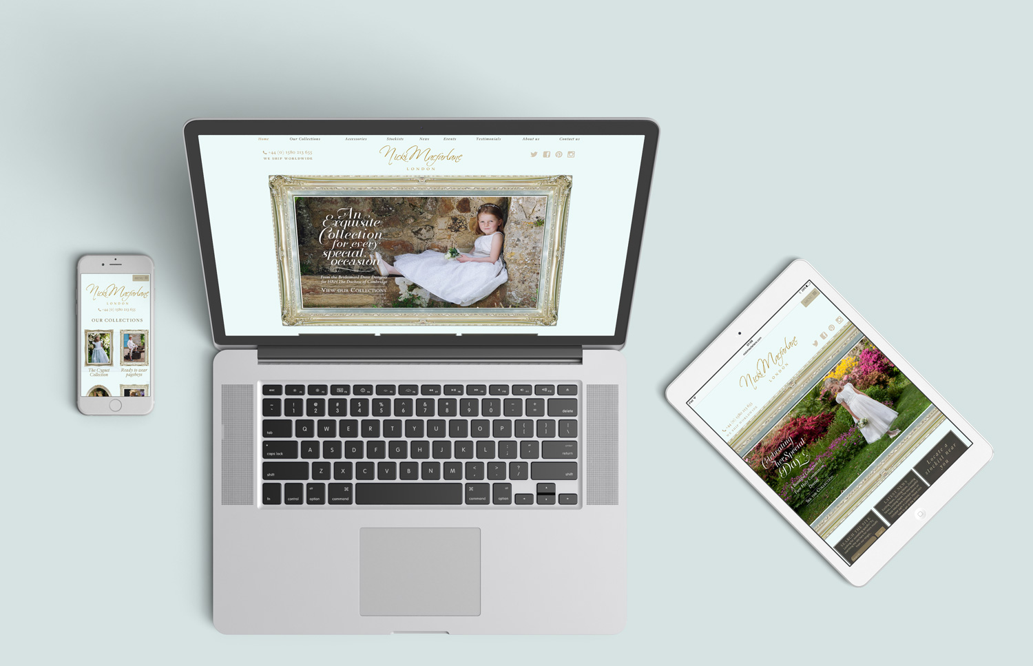 Website Redesign for Bridesmaid & Flower Girl Dress Designer Nicki Macfarlane