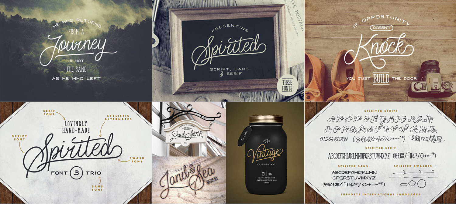"Font Friday: ""Spirited"" – a set of 3 hand-made fonts"